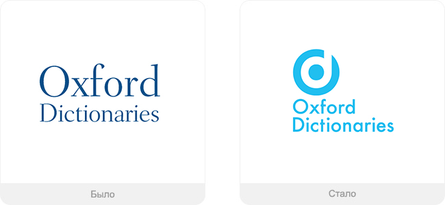 Дизайн логотипа компании Oxford Dictionary